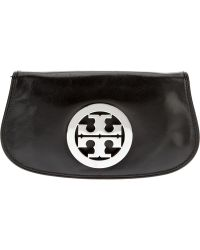Tory Burch Logo Clutch - Lyst