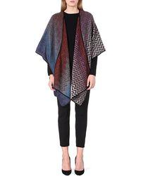 Missoni Knitted Woolblend Cape Multi - Lyst