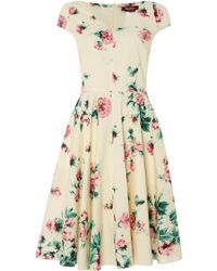 Max Mara Studio Floral Print Pleated Dress - Lyst