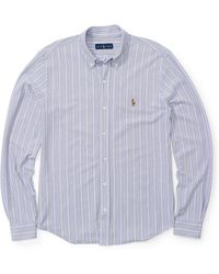 Polo Ralph Lauren - Striped Knit Oxford Shirt - Lyst