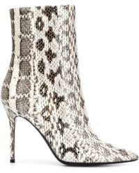 Wanda Nylon - Mecando Snakeskin-Blend Ankle Boots - Lyst