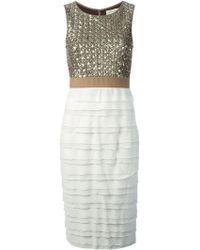 Coast + Weber + Ahaus Sequins Embroidered Top Fitted Dress - Lyst