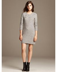 Banana Republic Striped French Terry Dress - Lyst