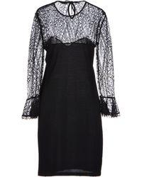 Emilio Pucci Black Short Dress - Lyst