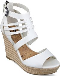 G by Guess Women'S Escinta Caged Espadrille Platform Wedge Sandals - Lyst