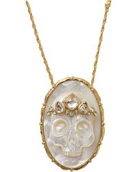 Alexis Bittar Muse Dor Agate Skull Pendant Necklace - Lyst