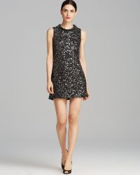 Rachel Zoe Dress Cyrus Leather Sequin - Lyst