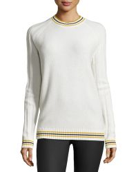 Jason Wu Cashmere Knit Rugby Pullover white - Lyst