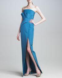 J. Mendel Folded-Bodice Gown - Lyst