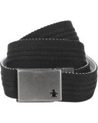 Original Penguin Solid Color Reversible Web Belt - Lyst
