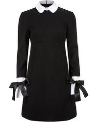 Alexander McQueen White Collar and Cuff Dress - Lyst