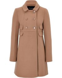 Tara Jarmon Double-Breasted Wool Coat - Lyst