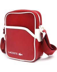 Lacoste Small Bordeaux Strap Bag - Lyst