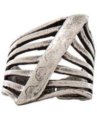 Natalie B. Jewelry - Steel Me Ring - Lyst