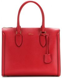 Alexander McQueen Heroine Leather Tote - Lyst