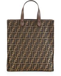 Fendi Signature Monogram Shopping Bag - Lyst