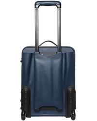 Serapian - Saffiano Leather Carry On Trolley - Lyst