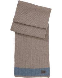 Hugo Boss Bloor   Merino Wool Scarf With Stripe - Lyst