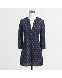 J.Crew Factory Printed Crinkle Tunic - Lyst