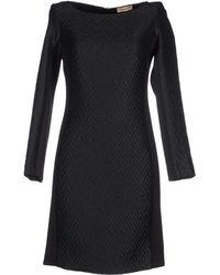 Maesta Short Dress black - Lyst