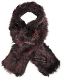 Inverni - Tanned Fox Scarf In Cashmere Wool - Lyst