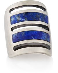 Pamela Love Silver Lapis Inlay Path Ring - Lyst