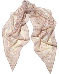 TOPSHOP - Paisleyprint Chiffon Scarf - Lyst