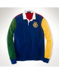 Polo Ralph Lauren Custom Fit Colorblocked Rugby - Lyst