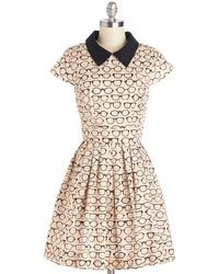 ModCloth Clear As Day Off Dress - Lyst