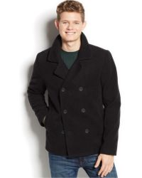 American Rag Double-Breasted Pea Coat - Lyst
