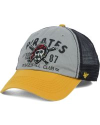 47 Brand Pittsburgh Pirates Flathead Cap - Lyst