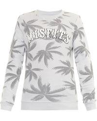 Zoe Karssen Misfits Palm-Print Jersey Sweatshirt - Lyst