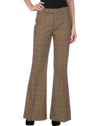 Ralph Lauren Collection Wide-Leg Casual Trouser - Lyst