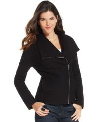 DKNY Long-sleeve Quilted Moto Jacket - Lyst