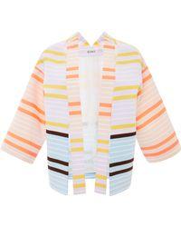Suno Neon Stripe Shoulder Cutout Jacket - Lyst