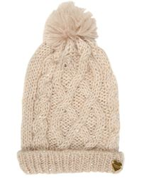 Jane Norman - Sequin Cable Beanie Hat - Lyst