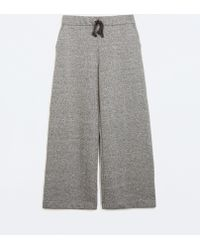 Zara Wide Trousers - Lyst