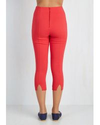 Hell Bunny London - Jive Got A Feeling Trousers In Red - Lyst