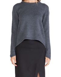 Milly Angeled Mesh Sweater - Lyst