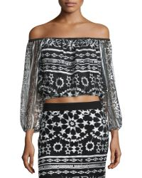 Golden by JPB - Galactic Sweet Pea Crop Top - Lyst