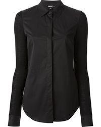 DKNY Panelled Shirt - Lyst