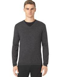 Calvin Klein Merino Vneck Sweater - Lyst
