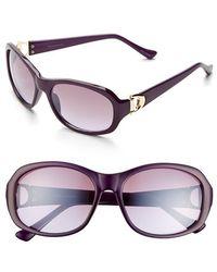 Ivanka Trump - 52mm Sunglasses - Purple - Lyst
