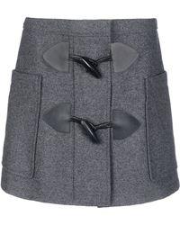 See By Chloé Gray Mini Skirt - Lyst