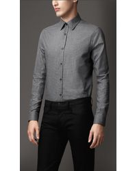 Burberry Modern Fit Check Cotton Shirt - Lyst