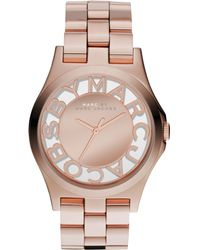 Marc By Marc Jacobs Women'S Rose Gold Ion-Plated Stainless Steel Bracelet 40Mm Mbm3207 - Lyst