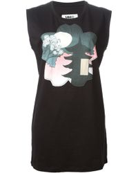 Mm6 By Maison Martin Margiela Sleeveless T-shirt - Lyst