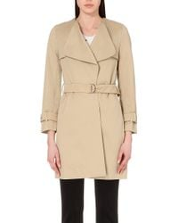 Sandro Belted Cotton Coat - For Women - Lyst