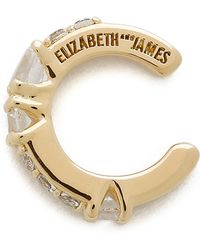 Elizabeth And James Twiggy Ear Cuff - Gold/Clear - Lyst