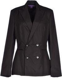 Ralph Lauren Collection Blazer black - Lyst